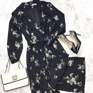 H&M Floral Jumpsuit w/ Notched Labels and Belt